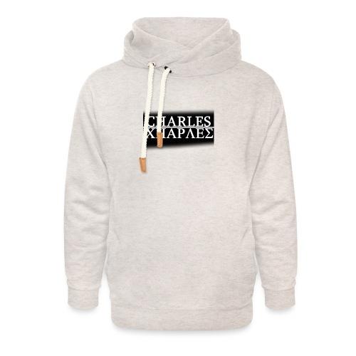 CHARLES CHARLES BLACK AND WHITE - Unisex Shawl Collar Hoodie