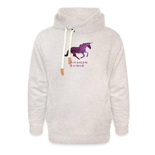 La licorne cosmique - Sweat à capuche cache-cou unisexe