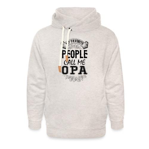 My Favorite People Call Me Opa - Unisex Shawl Collar Hoodie