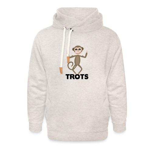 apetrots aapje wat trots is - Unisex sjaalkraag hoodie
