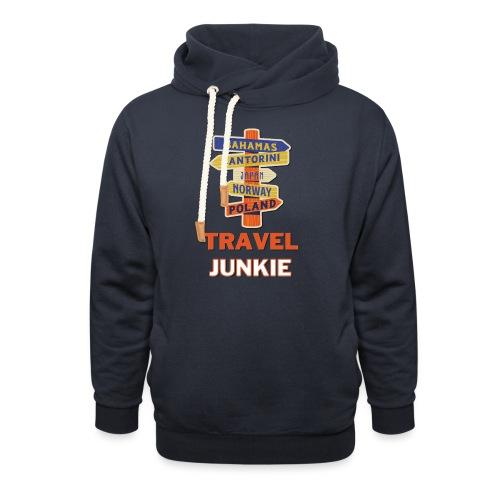 traveljunkie - i like to travel - Unisex Schalkragen Hoodie
