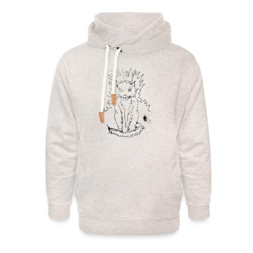der graue Katzer - Unisex Schalkragen Hoodie