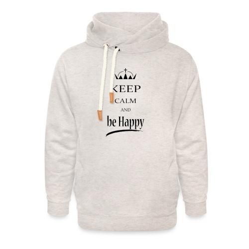 keep_calm and_be_happy-01 - Felpa con colletto alto unisex