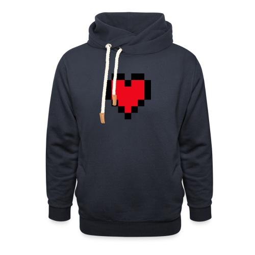 Pixel Heart - Unisex sjaalkraag hoodie