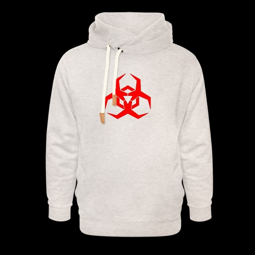 Radioaktive - Unisex hoodie med sjalskrave