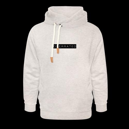 Overrated Black white - Unisex sjaalkraag hoodie