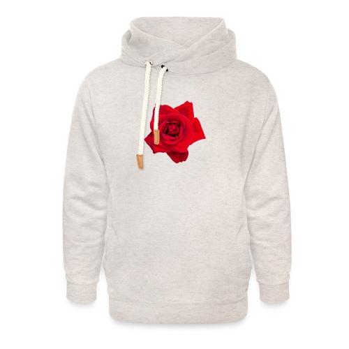 Red Roses - Bluza z szalowym kołnierzem unisex