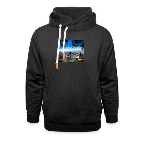 Denstella - Unisex hoodie med sjalskrave