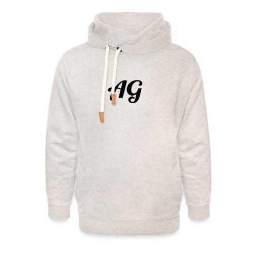 Zwarte Letters - Unisex sjaalkraag hoodie