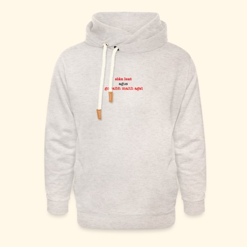 Good bye and thank you - Unisex Shawl Collar Hoodie