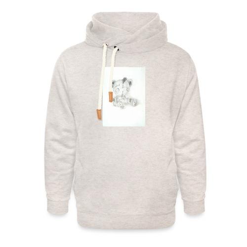 Broken teddybear - Unisex sjaalkraag hoodie