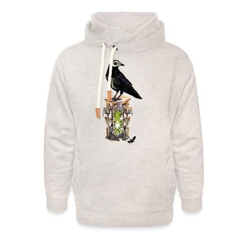 'Memento Mori' by BlackenedMoonArts - Unisex hoodie med sjalskrave