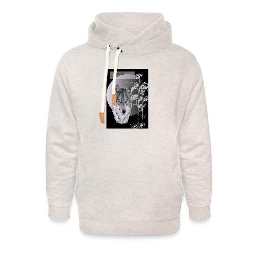 Re wild britain tee shirt - Unisex Shawl Collar Hoodie