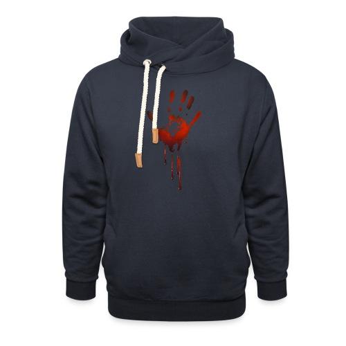tænk dig om - Unisex hoodie med sjalskrave