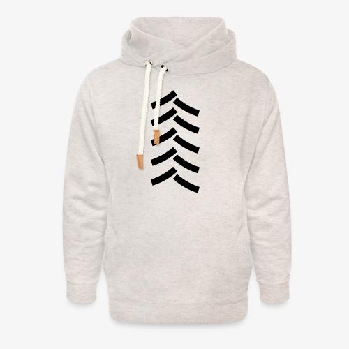 tractor spoor, bandenspoor - Unisex sjaalkraag hoodie