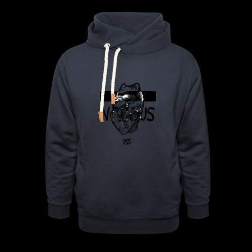 VICIOUS - Unisex hoodie med sjalskrave