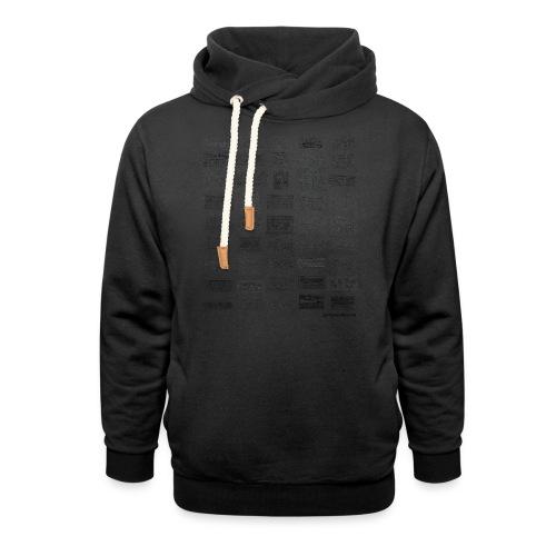 Synth Evolution T-shirt - White - Unisex Shawl Collar Hoodie