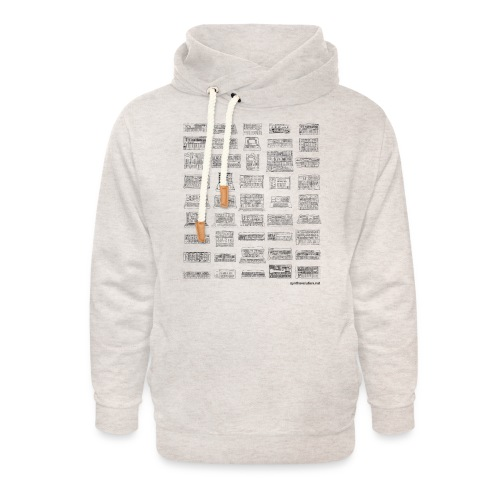Synth Evolution T-shirt - White - Unisex Shawl Collar Hoodie