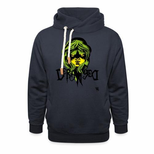 DerangeD - Tattoo Metal Horror Vampire - Unisex hoodie med sjalskrave
