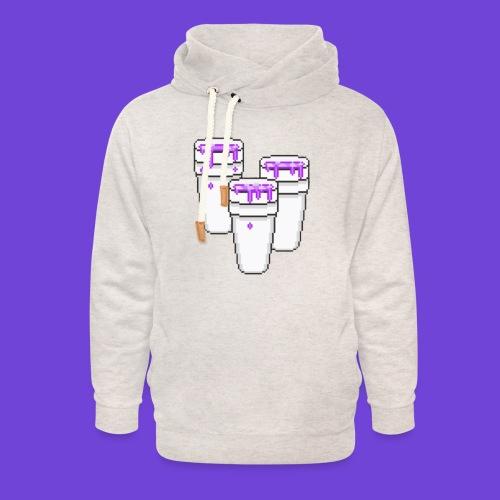 Purple - Felpa con colletto alto unisex