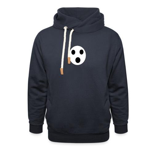 Sort Uni T-shirt - Unisex hoodie med sjalskrave