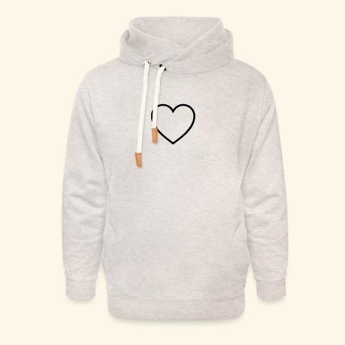 heart 512 - Unisex hoodie med sjalskrave