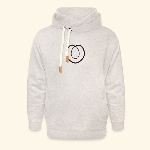 fruits and veggies icons peach 512 - Unisex hoodie med sjalskrave