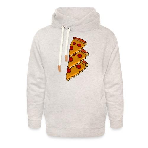 pizza - Unisex hoodie med sjalskrave