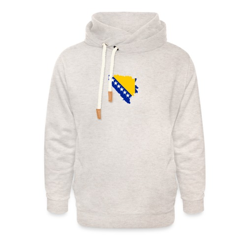 D.B - Unisex hoodie med sjalskrave