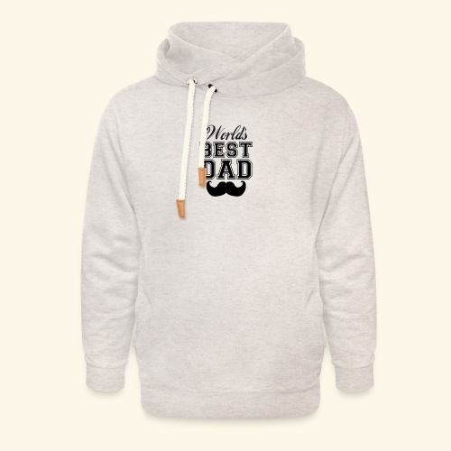 Worlds best dad - Unisex hoodie med sjalskrave