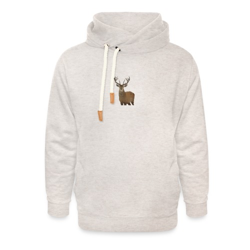 Cerf Low poly hoodie - Sweat à capuche cache-cou unisexe