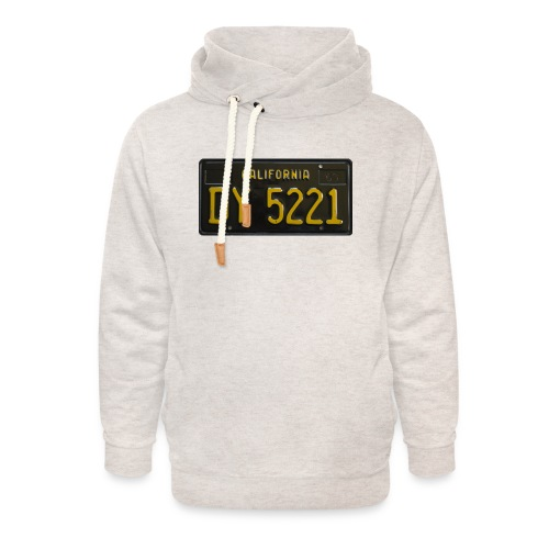 CALIFORNIA BLACK LICENCE PLATE - Unisex Shawl Collar Hoodie