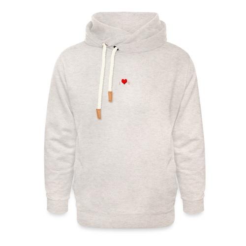 love - Unisex sjaalkraag hoodie