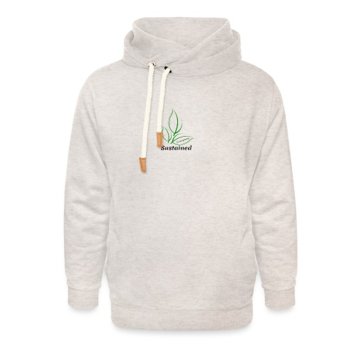 Sustained Sweatshirt - Unisex hoodie med sjalskrave