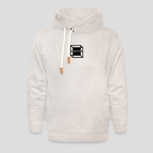 Squared Apparel Black Logo - Unisex Shawl Collar Hoodie