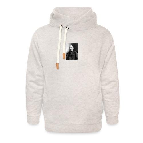Rockerfeller - Unisex hoodie med sjalskrave
