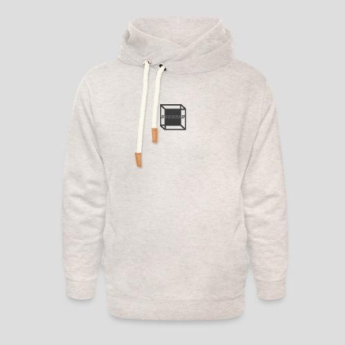 Squared Apparel Black / Gray Logo - Unisex Shawl Collar Hoodie