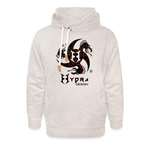 Hydra Design - logo Cracked lava - Felpa con colletto alto unisex