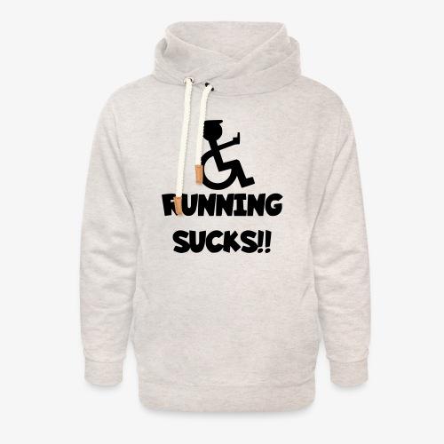 Rolstoel gebruikers haten rennen - Unisex sjaalkraag hoodie