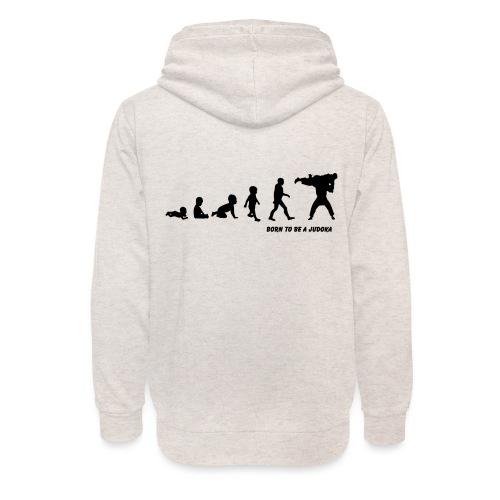 born to be a judoka - Unisex sjaalkraag hoodie