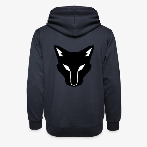 OokamiShirt Noir - Sweat à capuche cache-cou unisexe