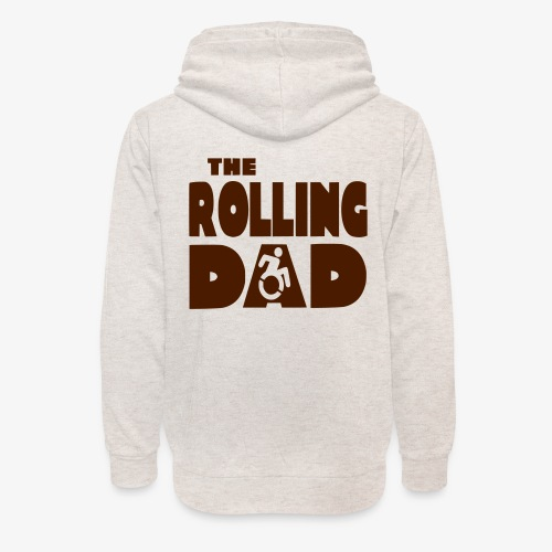 > De rollende papa in een rolstoel - Unisex sjaalkraag hoodie
