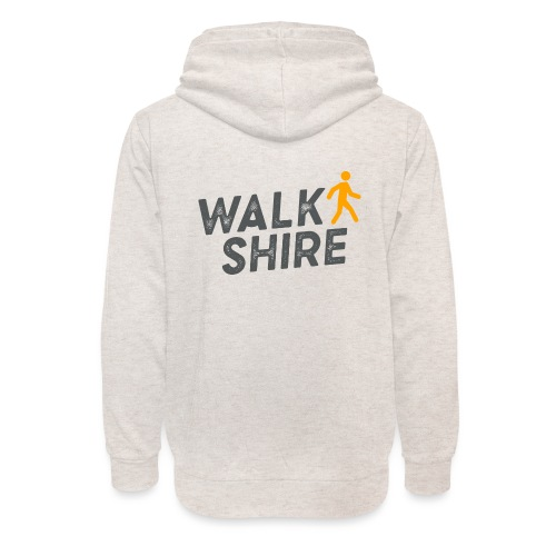 Walkshire logo orange person - Unisex Shawl Collar Hoodie