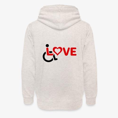 > Rolstoel liefde, rolstoelgebruiker, roller - Unisex sjaalkraag hoodie