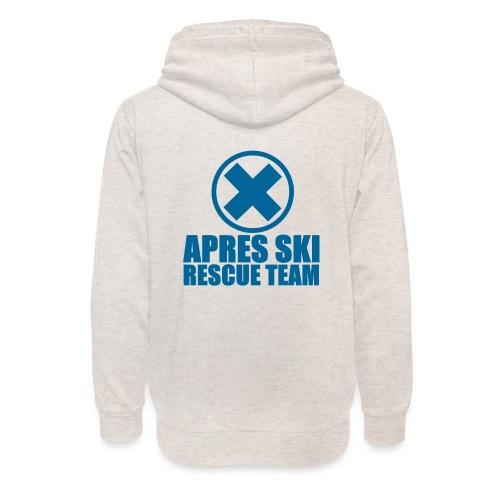 apres-ski rescue team - Unisex sjaalkraag hoodie