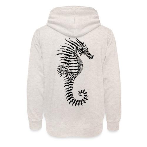 Alien Seahorse Invasion - Unisex Shawl Collar Hoodie