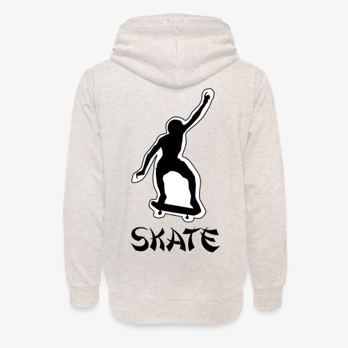 skate - Unisex sjaalkraag hoodie