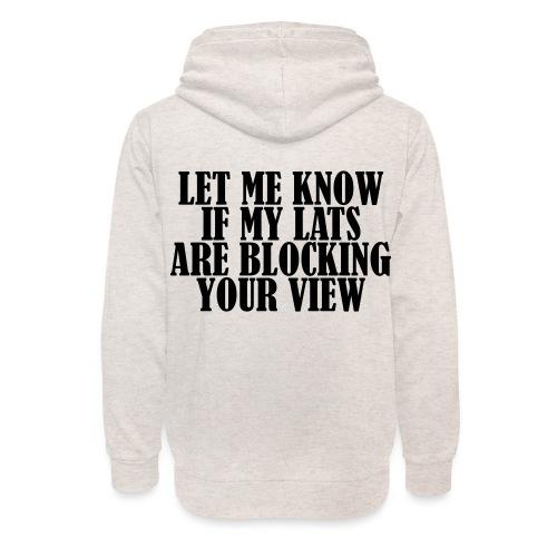 Lats Blocking View, Gym, Training, Fitness, Pain - Unisex Schalkragen Hoodie