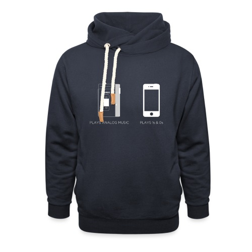 walkman analog - phone 1&0s - Shawl Collar Hoodie