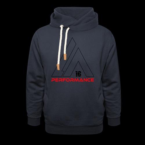 LA Performamce black/red - Schalkragen Hoodie